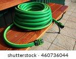 garden hose bundle on the bench ... | Shutterstock . vector #460736044