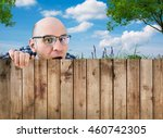 curious neighbor | Shutterstock . vector #460742305