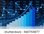 stock market chart. 3d render   ...   Shutterstock . vector #460743877