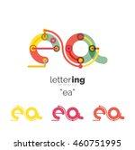 letter logo business linear... | Shutterstock .eps vector #460751995