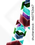 glass glossy arrow motion... | Shutterstock .eps vector #460752667