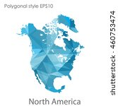 north america map in geometric... | Shutterstock .eps vector #460753474