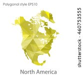 north america map in geometric... | Shutterstock .eps vector #460753555
