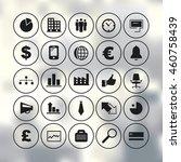business icons set vector... | Shutterstock .eps vector #460758439