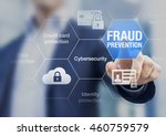 fraud prevention button ... | Shutterstock . vector #460759579
