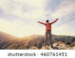cheering successful woman... | Shutterstock . vector #460761451
