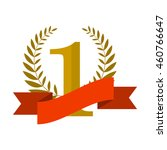 number one with ribbon and... | Shutterstock .eps vector #460766647