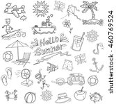 summer element in doodle style | Shutterstock .eps vector #460769524