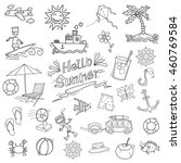summer element in doodle style | Shutterstock .eps vector #460769584