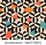 seamless abstract pattern of... | Shutterstock .eps vector #460773091