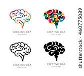vector brain logo  sign  or... | Shutterstock .eps vector #460775089