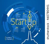 start up. income and success.... | Shutterstock .eps vector #460780441