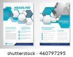 vector brochure flyer design... | Shutterstock .eps vector #460797295