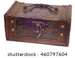 wooden box with a lock jewelry | Shutterstock . vector #460797604