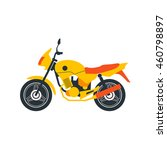isolated flat style motorcycle... | Shutterstock .eps vector #460798897