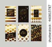 set of decorative christmas... | Shutterstock .eps vector #460815787