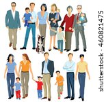 family and generations  3d... | Shutterstock . vector #460821475