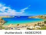 scenic rhodes island  lindos... | Shutterstock . vector #460832905