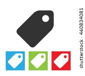 price tag icon. simple logo of... | Shutterstock .eps vector #460834081