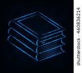 books illustration icon  blue... | Shutterstock .eps vector #460836214