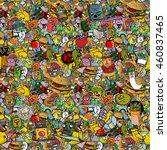 graffiti seamless texture....   Shutterstock . vector #460837465