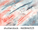 watercolor red and gray... | Shutterstock . vector #460846525