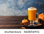 pumpkin spice latte  smoothie ... | Shutterstock . vector #460856941