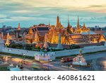 grand palace and wat phra keaw... | Shutterstock . vector #460861621
