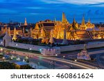 grand palace and wat phra keaw... | Shutterstock . vector #460861624