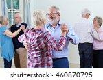group of seniors enjoying... | Shutterstock . vector #460870795