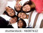 happy group of friends together ... | Shutterstock . vector #46087612