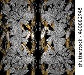 vintage pattern on black... | Shutterstock .eps vector #460882945