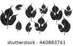 stylized solid mulberry leaves...