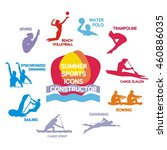 set of summer sport icons  set... | Shutterstock .eps vector #460886035