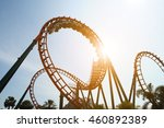 blurred roller coaster ride in... | Shutterstock . vector #460892389
