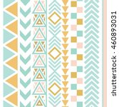 vector tribal aztec seamless... | Shutterstock .eps vector #460893031
