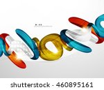 swirl shape colorful line.... | Shutterstock . vector #460895161
