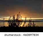 sunset over sea | Shutterstock . vector #460897834