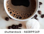a cup of coffee   coffee beans... | Shutterstock . vector #460899169