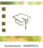 graduation cap icon | Shutterstock .eps vector #460899511
