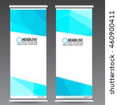 abstract blue roll up banner... | Shutterstock .eps vector #460900411