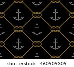 anchors and knot seamless... | Shutterstock .eps vector #460909309