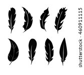vector group of feather | Shutterstock .eps vector #460911115