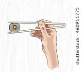vector illustration of a hand...   Shutterstock .eps vector #460911775