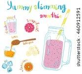 recipe illustration smoothie ... | Shutterstock .eps vector #460912591