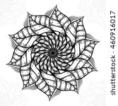 mandala. round ornament pattern. | Shutterstock .eps vector #460916017