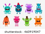 cute cartoon monsters. alien or ... | Shutterstock .eps vector #460919047