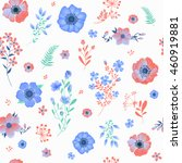 seamless pattern with flowers... | Shutterstock . vector #460919881