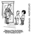 cartoon about an identical twin ... | Shutterstock . vector #460920145