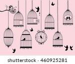 vector illustration of birds... | Shutterstock .eps vector #460925281